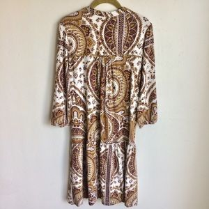 next Dresses - Next Bohemian Dress Ruffled Sleeves Hem Sz 10 EUC